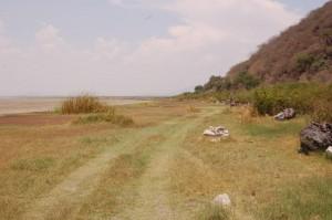 Atotonilco meer, opgedroogd in mei 2008